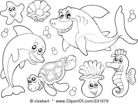450x340 Coloring Pages Ocean Creatures