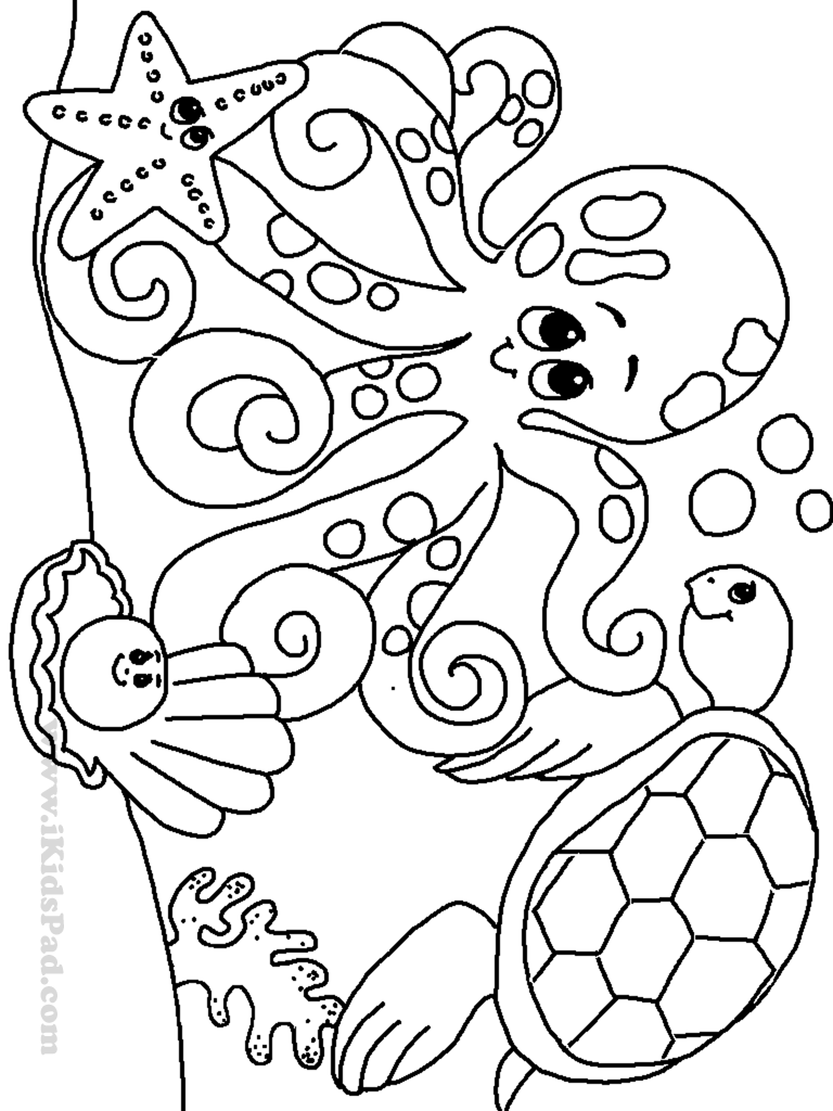 768x1024 Free Printable Ocean Coloring Pages For Kids And Sea Creatures