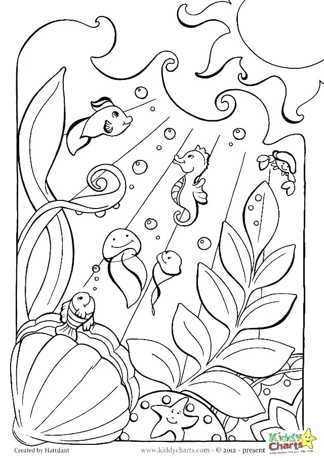 640x905 Ocean Scene Coloring Page Ocean Scene Coloring Page Pages For Kids