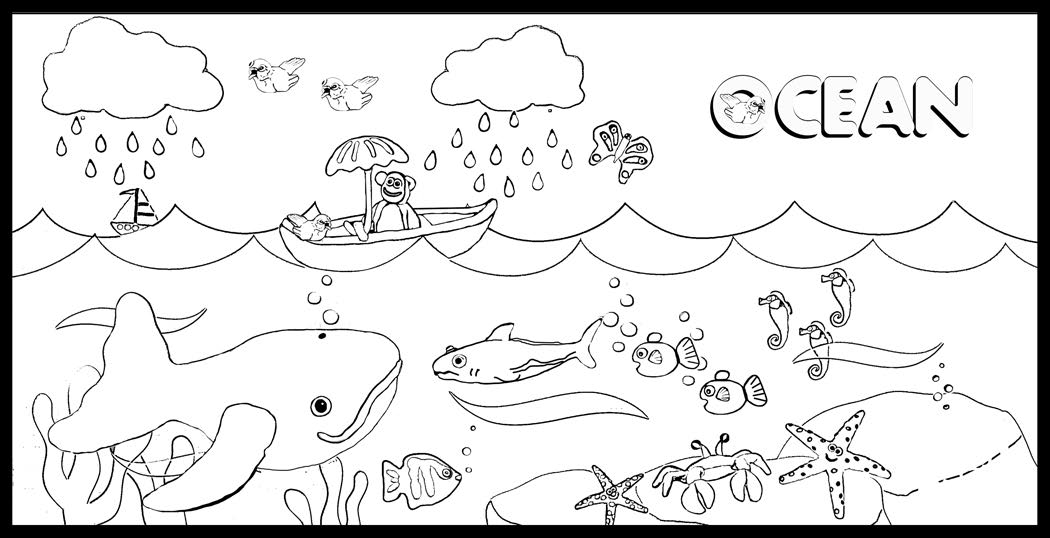 1050x538 Ocean Coloring Sheets Draw Ocean Coloring Pages For Coloring