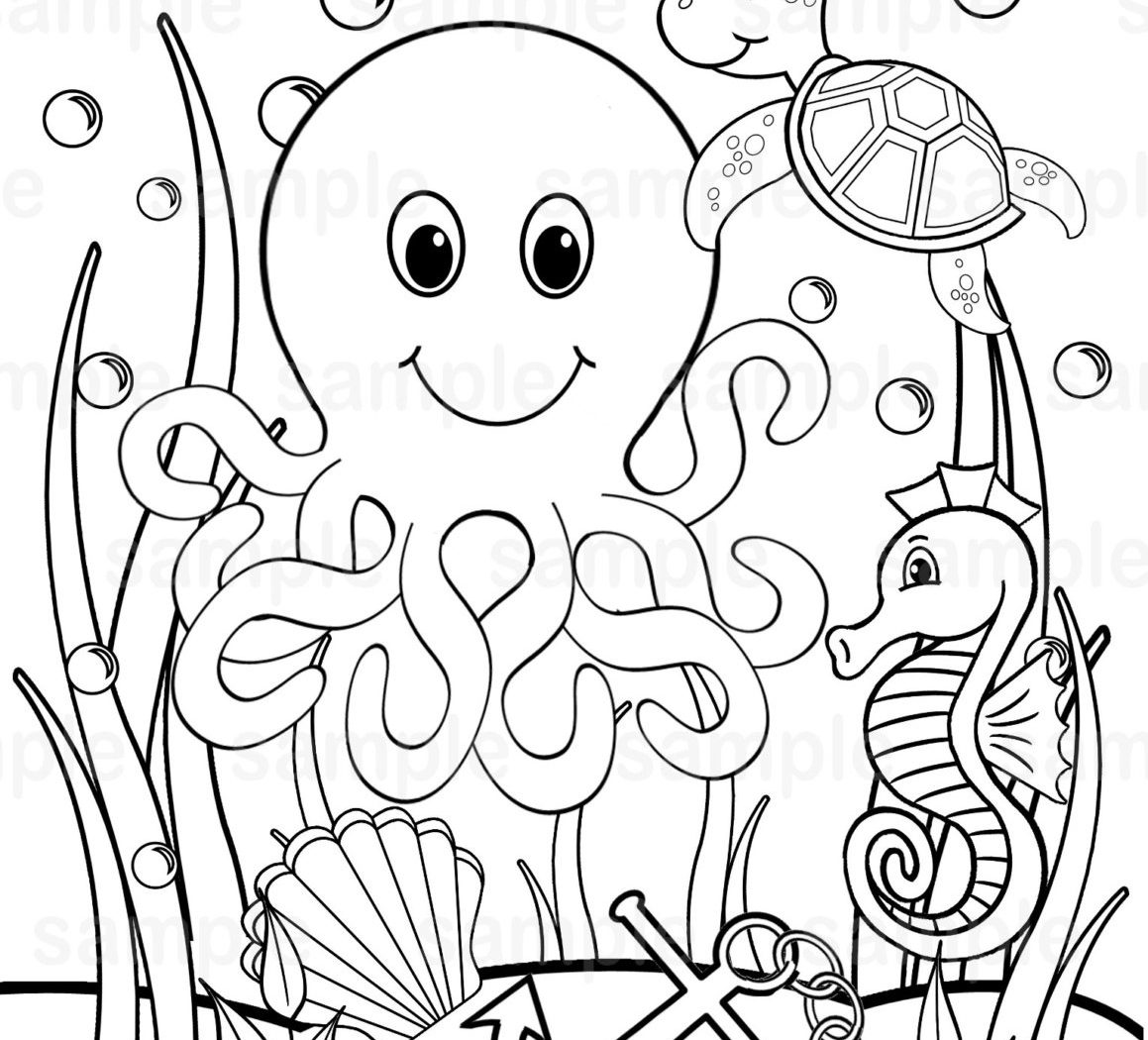 1159x1050 Pond Clipart Ocean Ecosystem And Habitat Free Printable Coloring