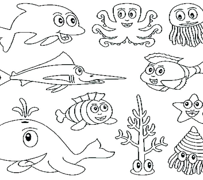 678x600 Printable Ocean Coloring Pages Printable Ocean Coloring Pages Get