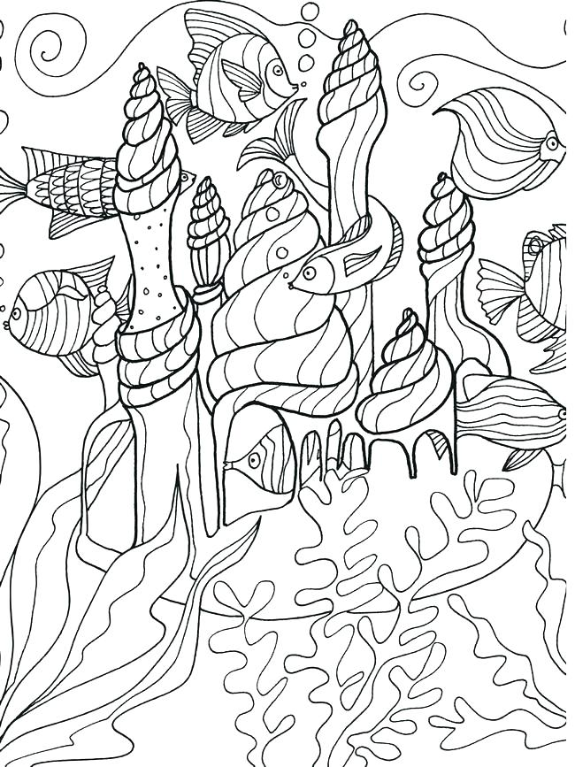 650x867 Ocean Life Coloring Pages Together With Marine Life Under