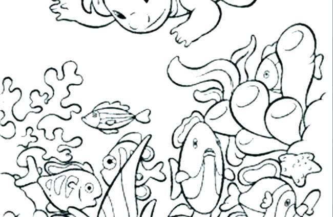 650x425 Ocean Scene Coloring Page Ocean Coloring Pages Printable Ocean