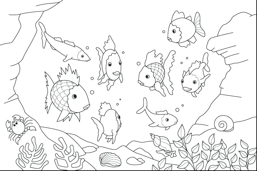 878x586 Ocean Scene Coloring Page Underwater Coloring Page Ocean Coloring