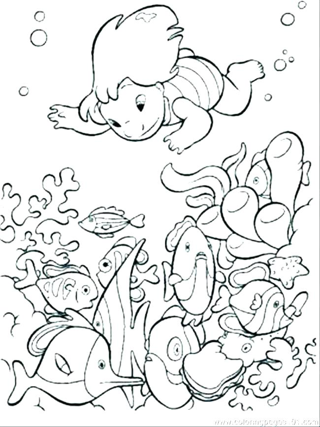 650x867 Ocean Scene Coloring Pages Free Printable Beach Coloring Page