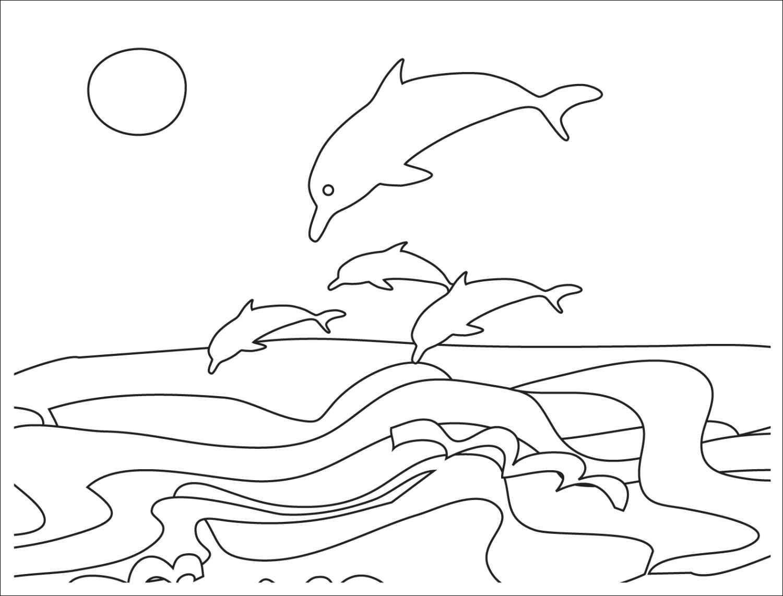 1500x1142 Ocean Scenery Coloring Pages Beautiful Seas And Ocean Scene