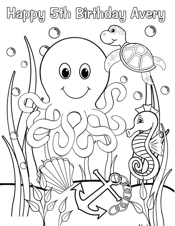 570x738 Underwater Coloring Pages Ocean Scene Coloring Page Like This Item