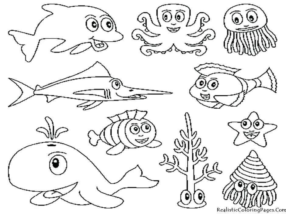 940x705 Underwater Coloring Pages Ocean Scene Coloring Page Ocean