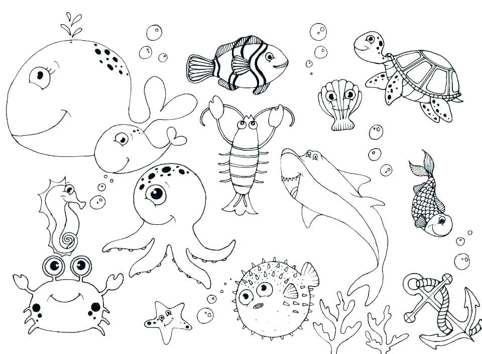 960x704 Ocean Coloring Page Ocean Scene Coloring Page Free Printable Ocean