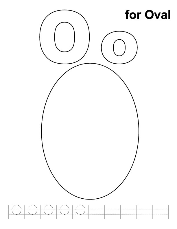 612x792 Oval Coloring Page O For Oval Coloring Page With Handwriting