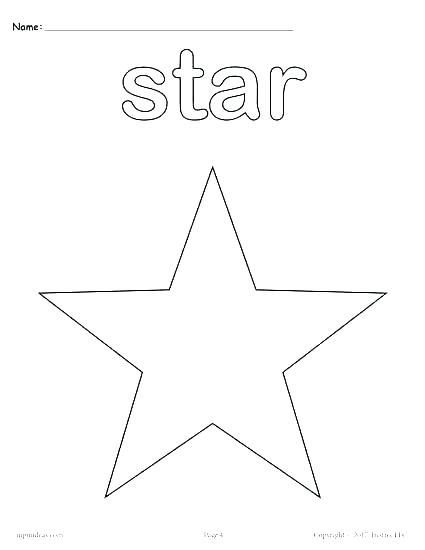 425x550 Shapes Coloring Pages For Kindergarten Octagon Coloring Page