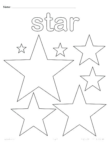 425x550 Shape Coloring Page