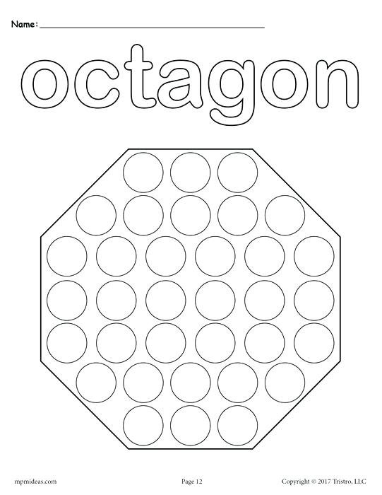 541x700 Free Dot Paint Printables Kids Coloring Free Octagon Do A Dot