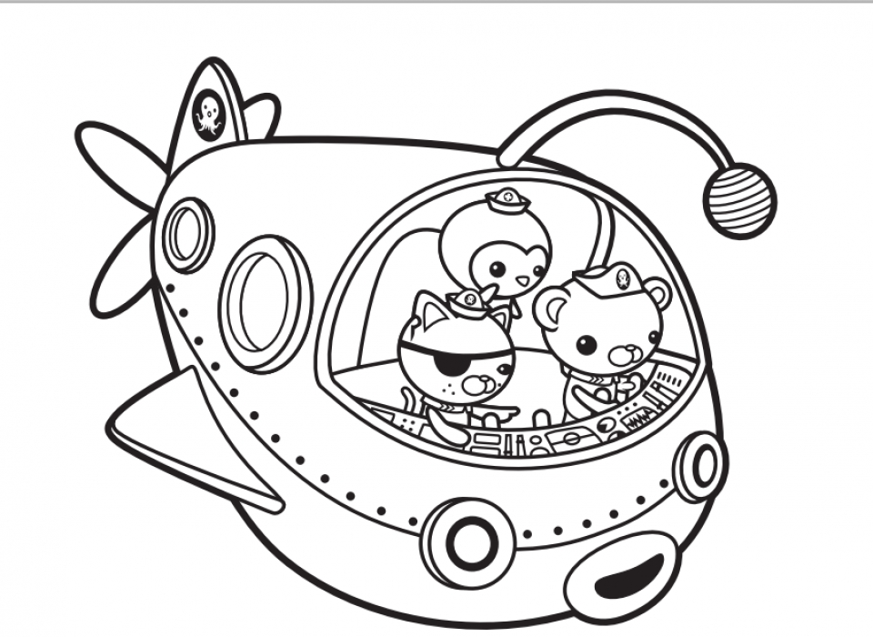 Octonauts Octopod Coloring Pages