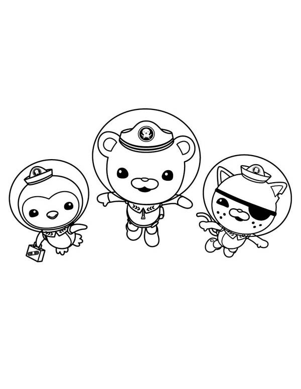 600x775 Kwazii And Peso And Captain Barnacles Swimming In The Octonauts