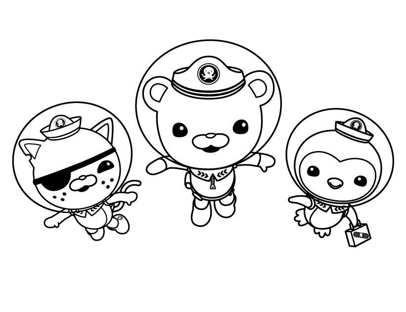 821x630 Octonauts Coloring Pages