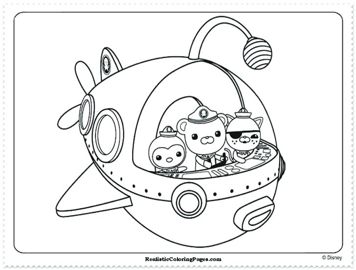 728x553 Octonauts Coloring Pages Colori Pages Pages Book Medium Size