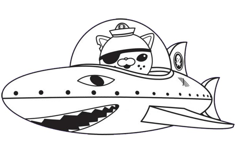 764x515 Octonauts Coloring Pages Kwazii Cat
