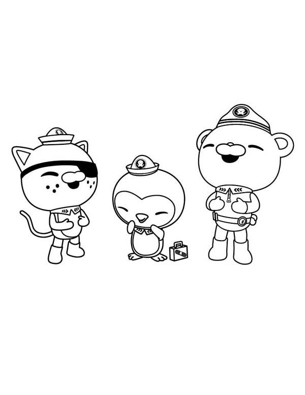 600x775 The Octonauts, Kwazii And Peso And Captain Barnacles Laughing