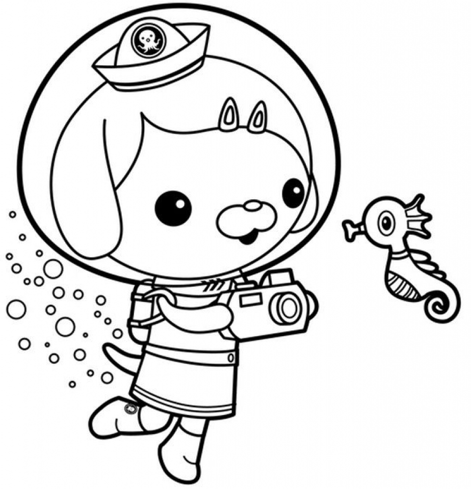 924x960 Coloring Pages To Print Octonauts Peso Colouring Within Octonaut