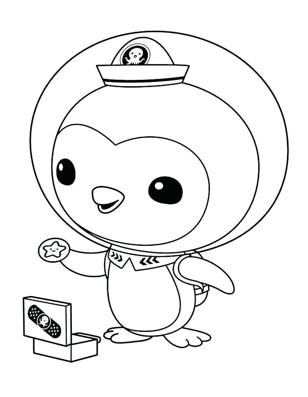 600x775 Disney Jr Octonauts Coloring Pages The Pictures To Print And Color