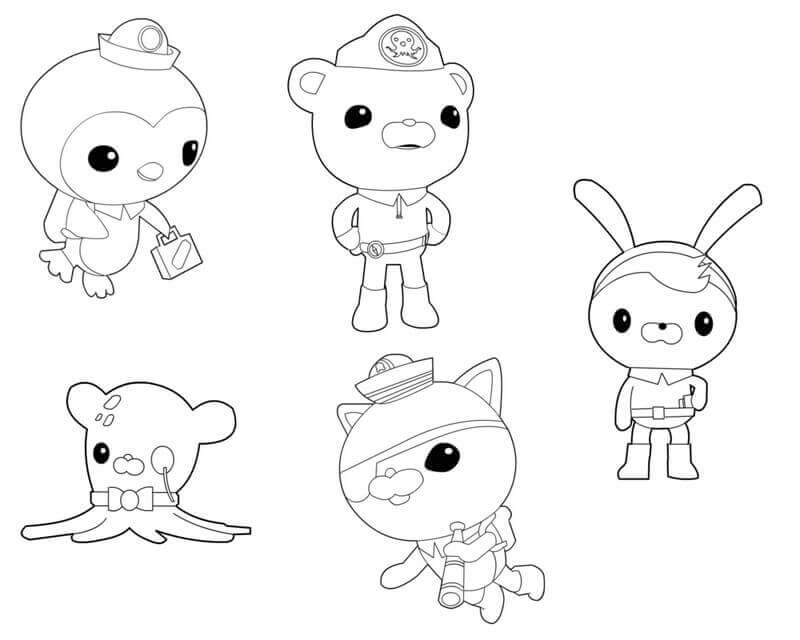 800x640 Free Printable Octonauts Coloring Pages