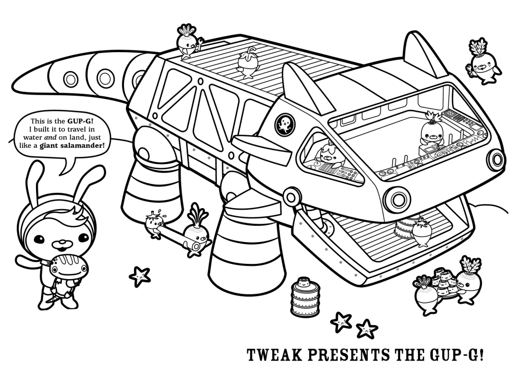 1024x768 Free Printable Octonauts Coloring Pages