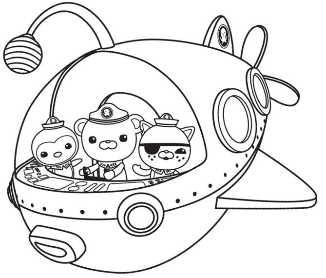 669x570 Octonauts Coloring Pages Octonauts Party, Birthdays And Elsa