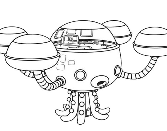 image relating to Octonauts Printable called Octonauts Printable Coloring Web pages at  Totally free