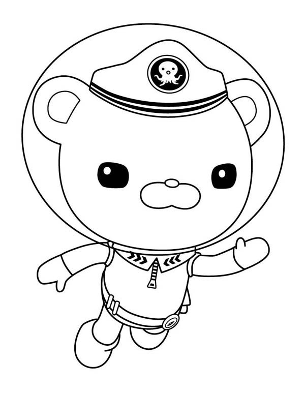 600x775 Captain Barnacles Swim In The Octonauts Coloring Page