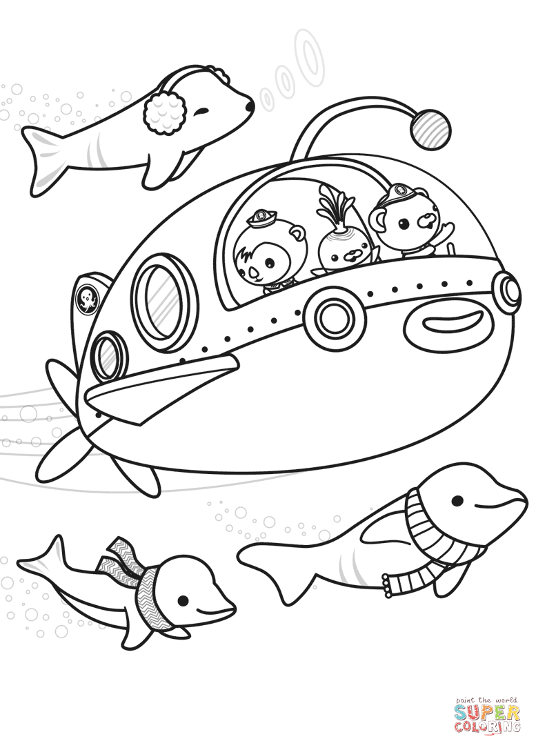 777x1087 The Octonauts Explore Coloring Page Free Printable Coloring Pages