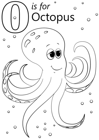 340x480 O Is For Octopus Coloring Page Letter O Category Select