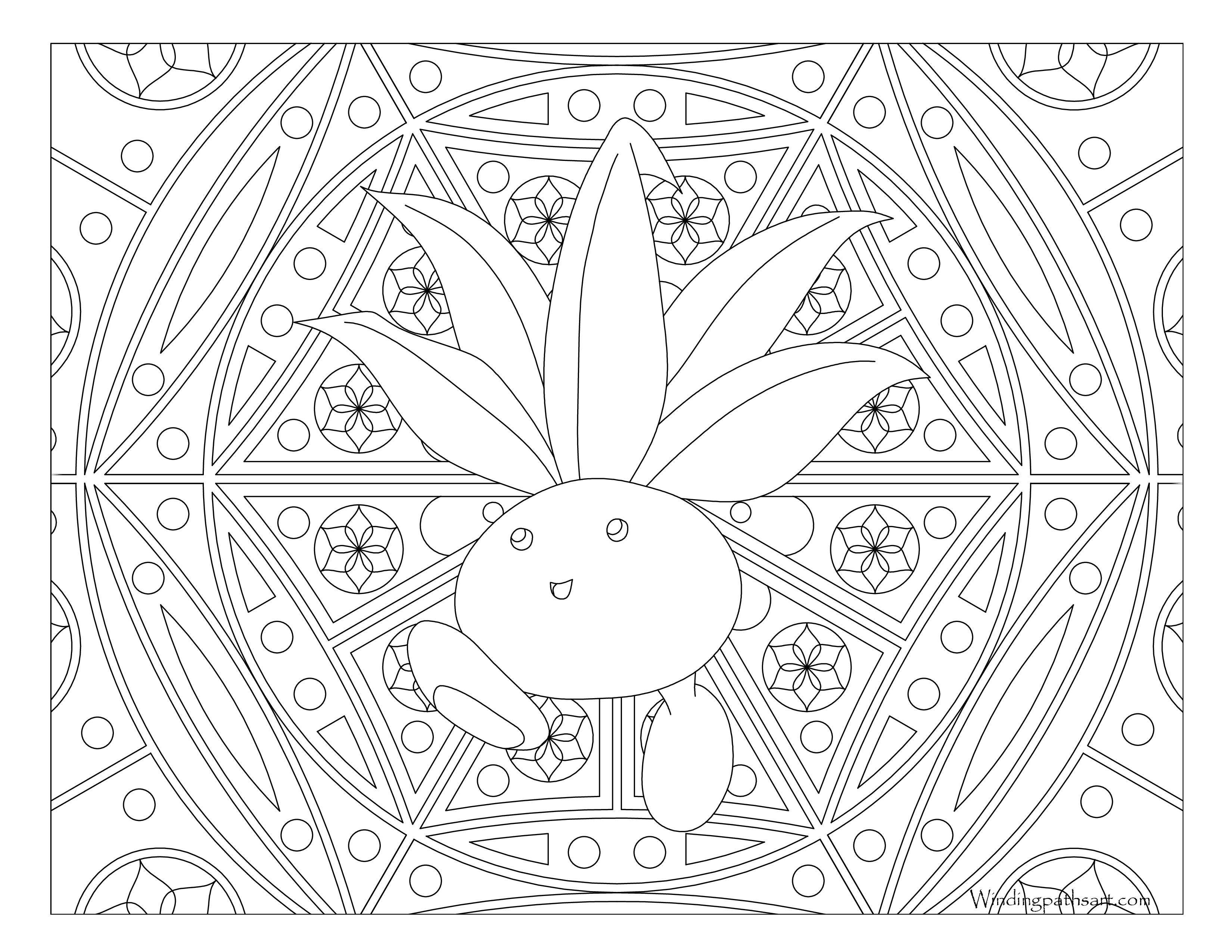 Oddish Coloring Pages