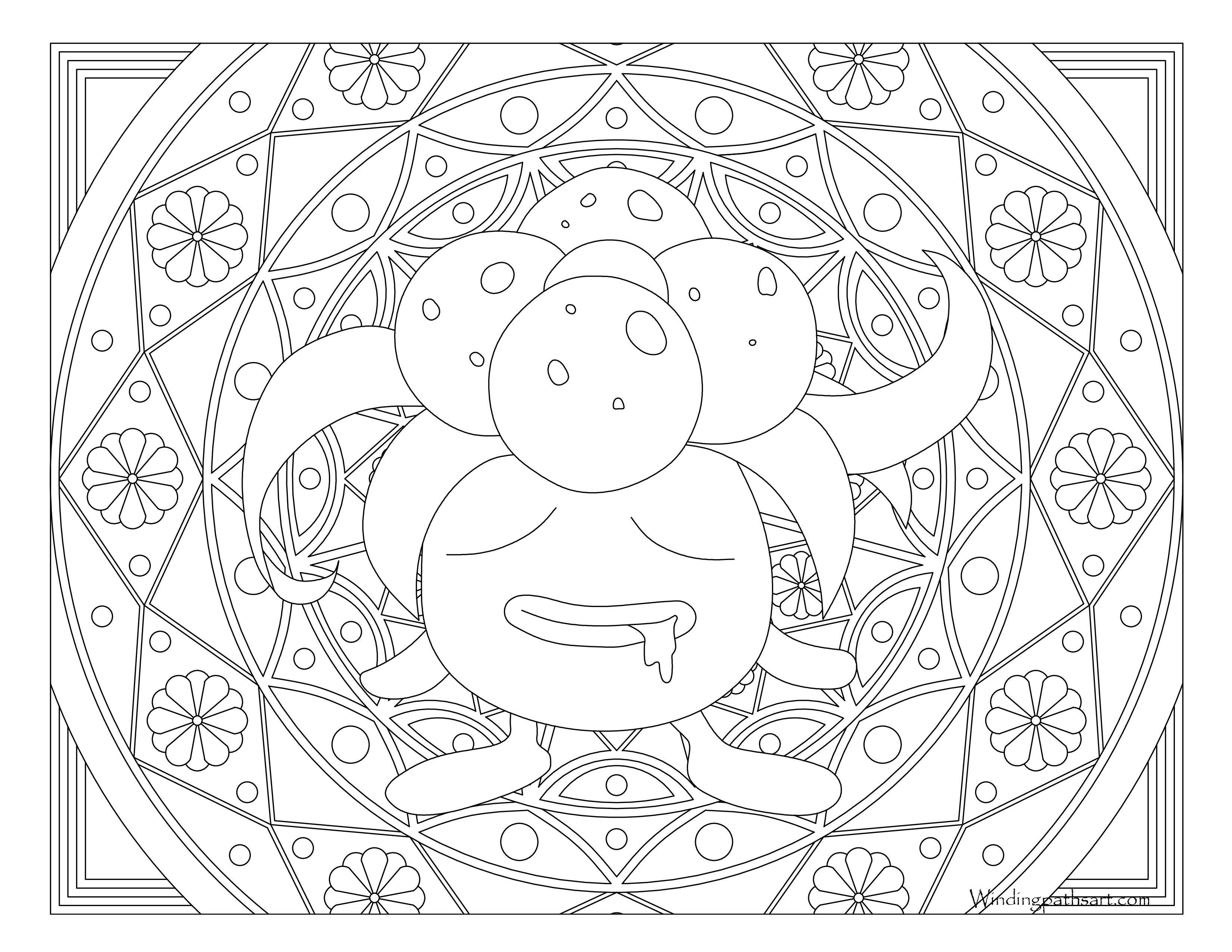 3300x2550 Gloom Pokemon Coloring Page