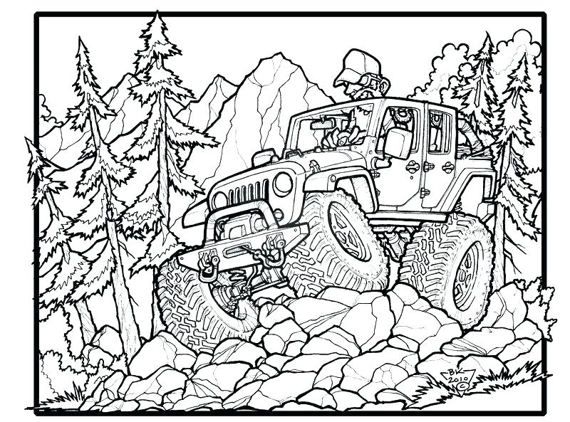 800x593 Jeep Coloring Page Lovely Jeep Coloring Pages Print Wrangler Off
