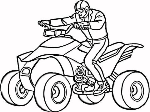 480x358 Man On Quad Atv Coloring Page
