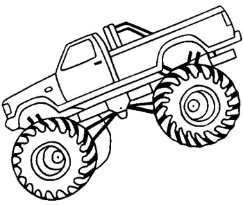 350x296 Monster Truck Off Road Coloring Page