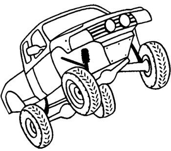 350x308 Off Road Coloring Page