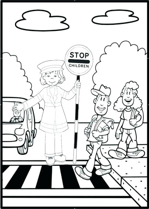 496x694 Road Coloring Page Road Coloring Page Safety Coloring Sheets Bike