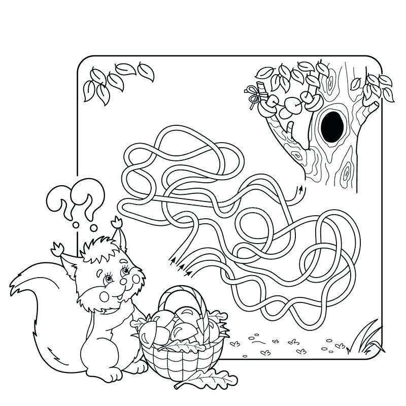 800x800 Stock Illustration Maze Labyrinth Game Preschool Children Puzzle