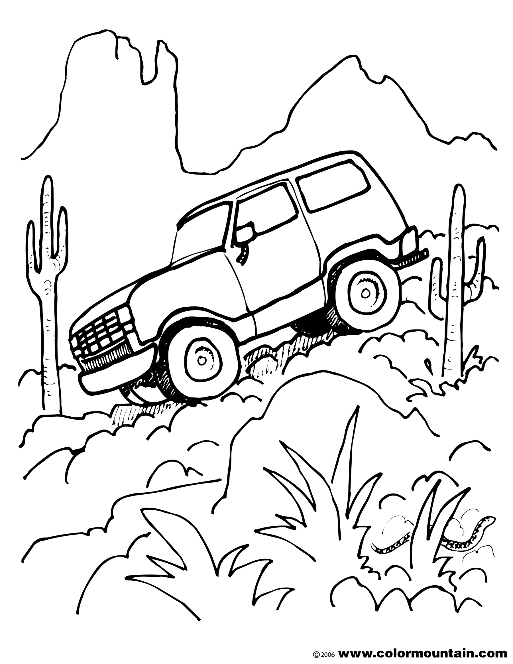 1800x2329 Off Road Truck Climbing Down A Mountainside This Baja Truck