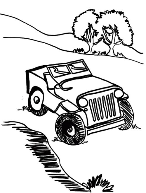 500x659 Car Off Road Coloring Page Cars Coloring Pages