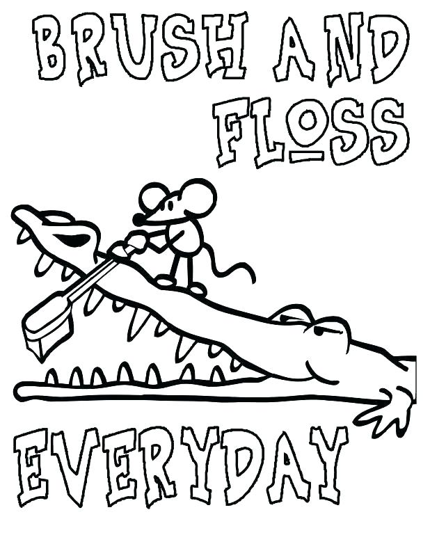 618x802 Dentist Coloring Pages Brushing Teeth Coloring Page Dental