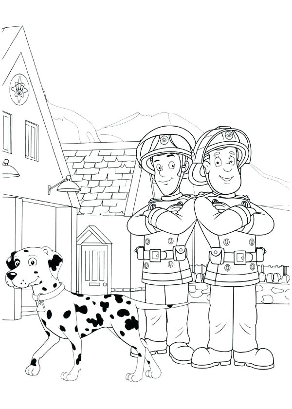 600x840 Fire Department Coloring Pages Engine Fire Station Coloring