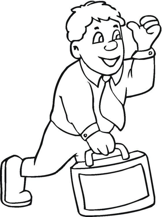 561x750 Free Office Coloring Pages