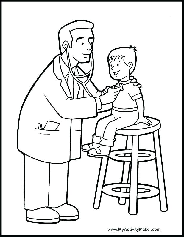 618x798 Coloring Page Doctor S Doctors Office Coloring Pages