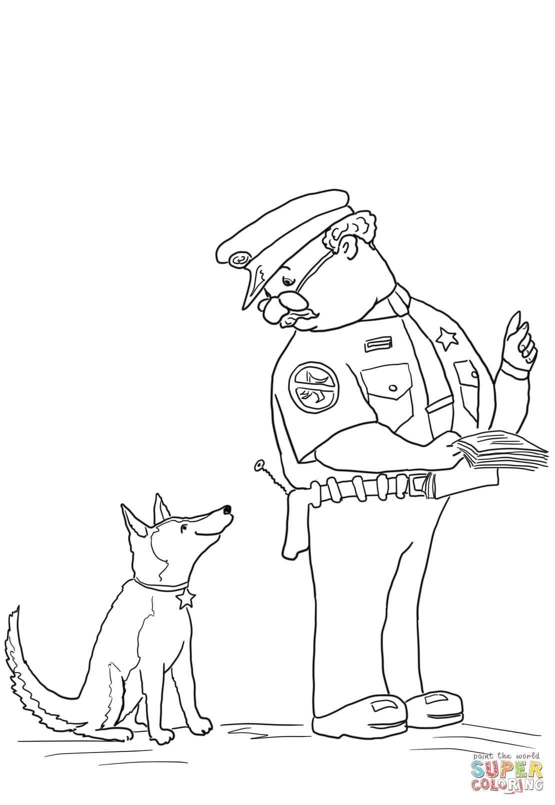 1110x1610 Officer Buckle And Gloria With Paper Work Coloring Page Officer