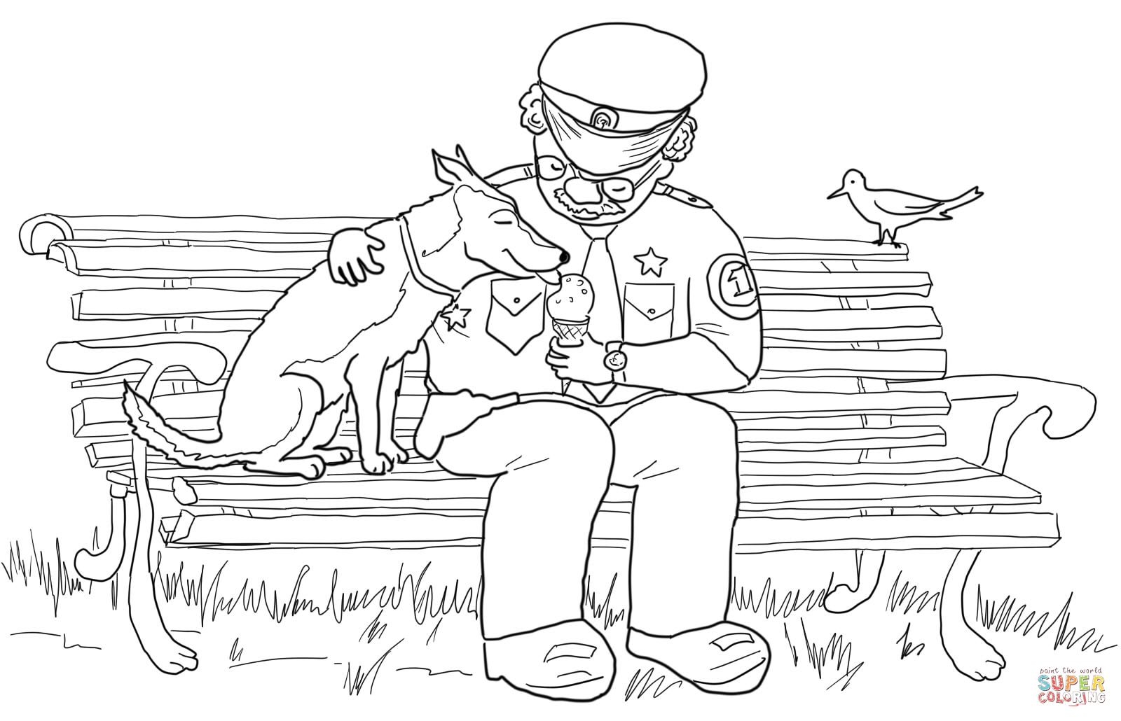 1600x1030 Officer Buckle Feeding Ice Cream To Gloria The Dog