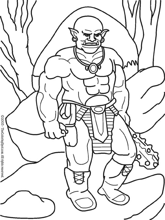 541x721 Ogre Audio Stories For Kids Free Coloring Pages From Light